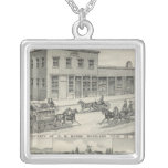 Woodland building, Yolo County farm Silver Plated Necklace
