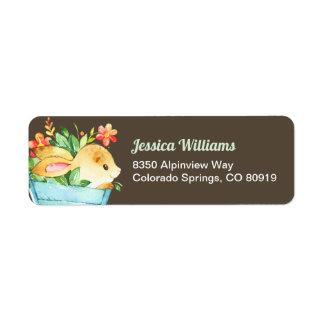 Woodland Bunny Return Address Label