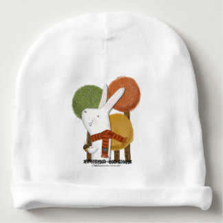 Woodland Bunny with Acorn Baby Beanie