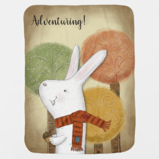 Woodland Bunny with Acorn Baby Blanket