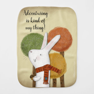 Woodland Bunny with Acorn Burp Cloth