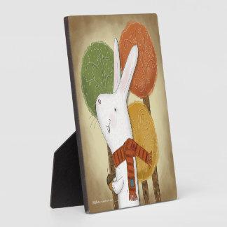 Woodland Bunny with Acorn Plaque