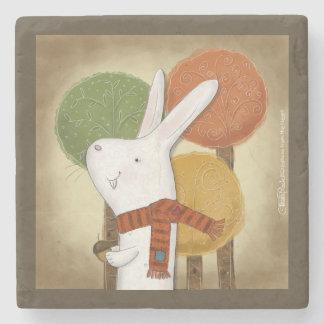 Woodland Bunny with Acorn Stone Coaster