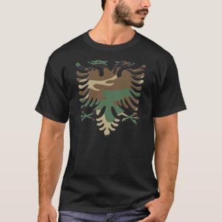 Woodland Camo Albanian Eagle 3D T-Shirt