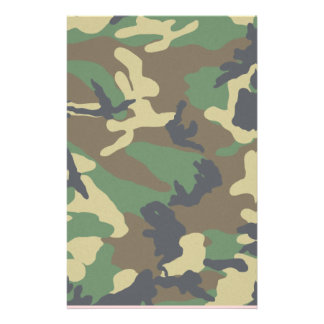 Woodland Camo for Scrapbooking Stationery