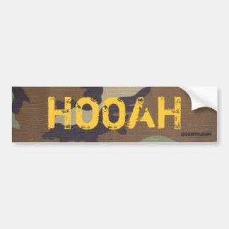 woodland camo, HOOAH, GOARMY.com Bumper Sticker