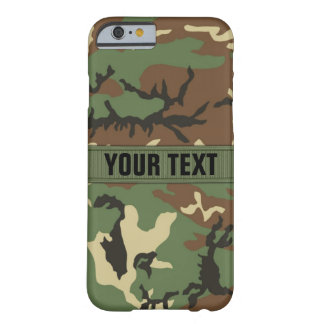 Woodland Camo Personalized Barely There iPhone 6 Case
