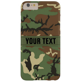 Woodland Camo Personalized Barely There iPhone 6 Plus Case