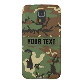 Woodland Camo Personalized Galaxy S5 Cases