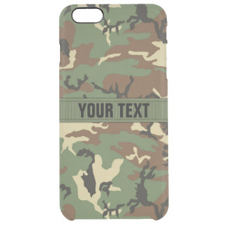 Woodland Camo Personalized Uncommon Clearly™ Deflector iPhone 6 Plus Case