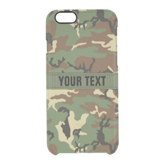 Woodland Camo Personalized Uncommon Clearly™ Deflector iPhone 6 Case