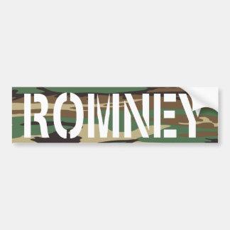 Woodland Camo Romney Bumper Sticker