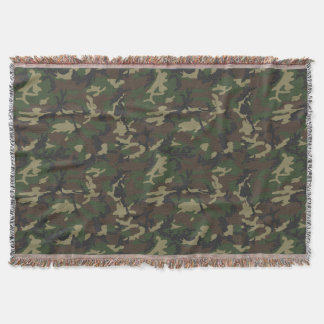 Woodland Camo Throw Blanket