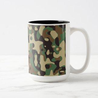Woodland Camo Two-Tone Coffee Mug