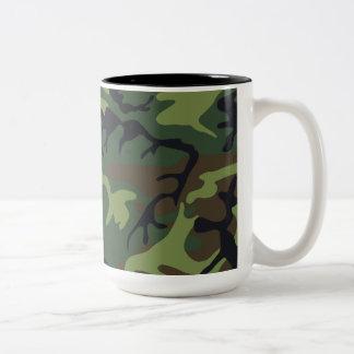Woodland Camo Two-Tone Mug
