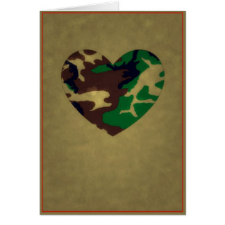 Woodland Camo  Valentine Hearts - Valentine's Day Card