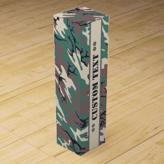 Woodland Camo w/ Custom Text Wine Box