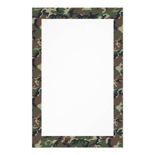 Woodland Camouflage Background Template Stationery