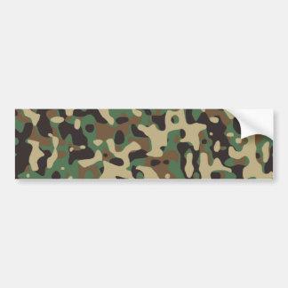 Woodland Camouflage Bumper Sticker