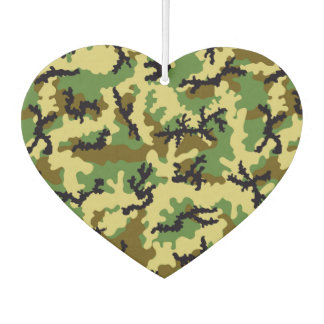 Woodland camouflage car air freshener