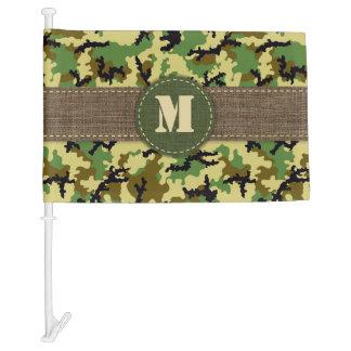 Woodland camouflage car flag
