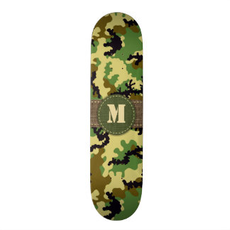 Woodland camouflage custom skateboard