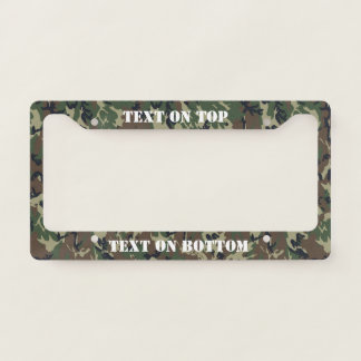 Woodland Camouflage Military Background Licence Plate Frame
