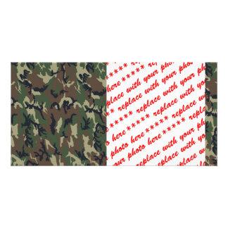 Woodland Camouflage Military Background Photo Card