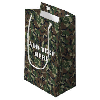 Woodland Camouflage Military Background Small Gift Bag