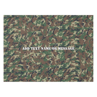 Woodland Camouflage Military Background Tablecloth
