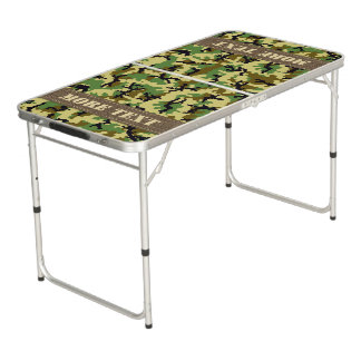 Woodland camouflage pong table