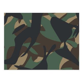 Woodland Camouflage Postcard