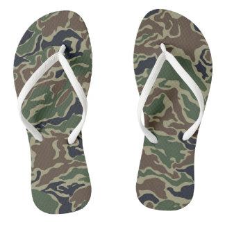 Woodland Camouflage Thongs