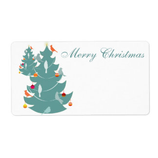 Woodland Christmas Shipping Label