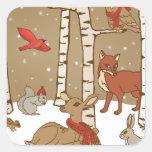 Woodland Christmas Sticker