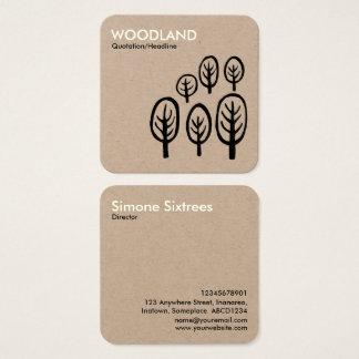 Woodland - Cream + Black on Kraft Card