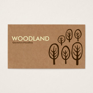 Woodland - Cream + Dark Brown on Cardboard Box Tex Business Card