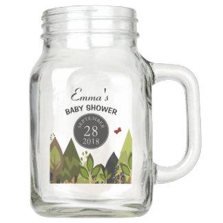 Woodland Creature Baby Shower Party Decor Mason Jar