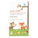 Woodland Creatures Baby Shower Diaper Raffle Pack Of Standard Business Cards