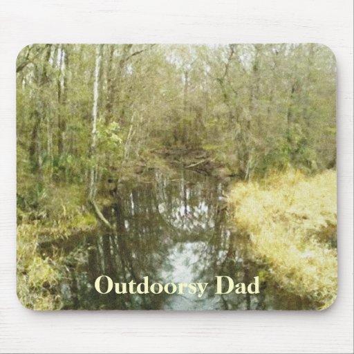 Woodland Creek Landscape Fathers Day Mousepads