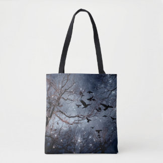 Woodland Crows Tote Bag