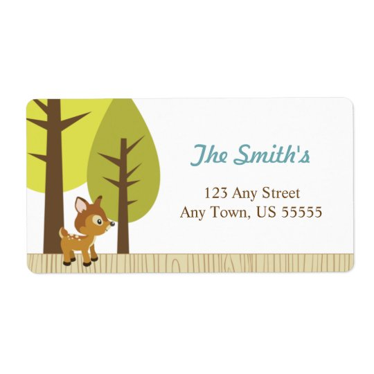 Woodland Deer Address Labels