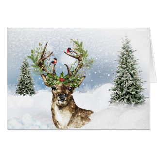 Woodland Deer All Purpose Christmas Note Card