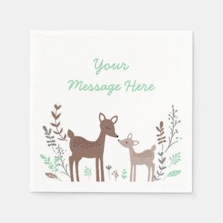 Woodland Deer Baby Shower Paper Serviettes