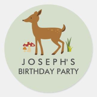 Woodland Deer Birthday Sticker