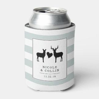 Woodland Deer | Buck & Doe Wedding Favor Can Cooler