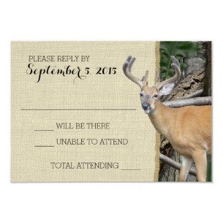 Woodland Deer Camo Response 9 Cm X 13 Cm Invitation Card