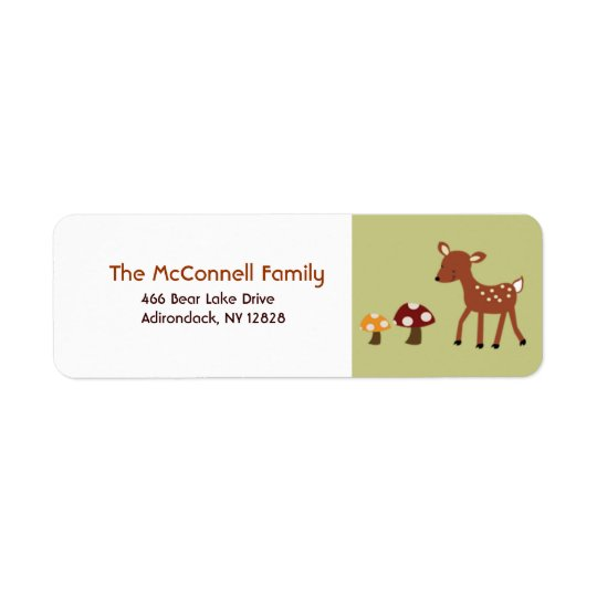 Woodland Deer PRINTABLE ADDRESS LABELS