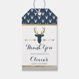 Woodland Deer Thank You Tag, Antlers, Baby Shower Gift Tags