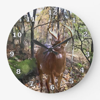 Woodland Deer Wall Clock